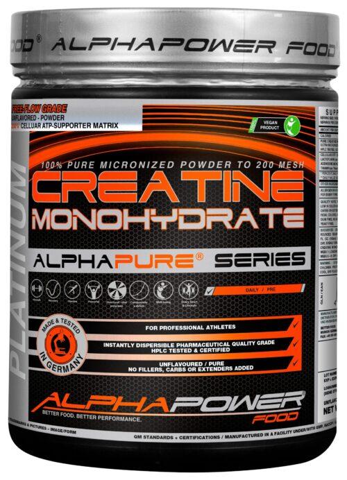 ALPHAPOWER FOOD: 100% Pure Creatine Monohydrate 1000 g