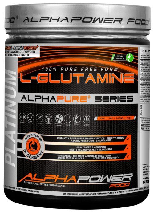 ALPHAPOWER FOOD: 100% Pure L-Glutamine 1000 g